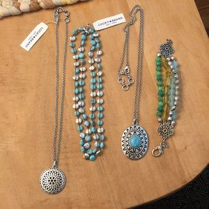 Lucky brand necklaces and bracelet